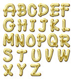 Glossy gold alphabet Stock Photo