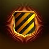 Glossy Gold shield emblem Stock Photos