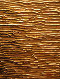 Glossy gold veins on the  matte gold Royalty Free Stock Photography