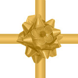 Glossy golden gift ribbon Royalty Free Stock Photo