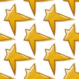 Glossy golden stars seamless pattern Stock Images