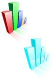 Glossy graph Royalty Free Stock Photos