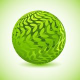 Glossy Green Globe Stock Photography