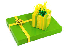 Free Glossy Green Presents Royalty Free Stock Photography - 8961147