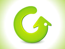 Glossy green refresh icon Royalty Free Stock Photos