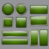 Glossy Green web buttons Stock Image