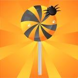 Glossy halloween lollipop background vector illustration