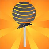 Glossy halloween lollipop background Royalty Free Stock Photo