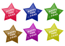 Glossy Happy New Year Stock Photo