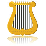 Glossy harp Royalty Free Stock Photo