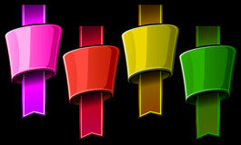 Glossy heading color set Royalty Free Stock Photo