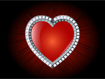Glossy Heart Stock Photo
