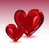 Glossy Heart Royalty Free Stock Images
