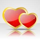 Glossy heart Stock Image