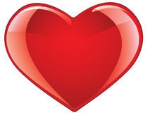 Glossy heart Stock Photography