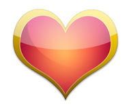 Glossy heart Stock Images