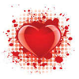 Glossy heart background Royalty Free Stock Photo