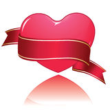 Glossy heart banner Stock Photo