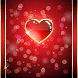 Glossy heart card Royalty Free Stock Images