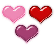 Glossy heart collection Royalty Free Stock Image