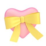 Glossy heart covered with ribbon bow Royalty Free Stock Image