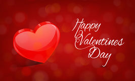 Glossy heart for Happy Valentines Day celebration. Royalty Free Stock Images