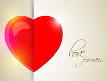 Glossy heart for Happy Valentines Day celebration. Stock Photography