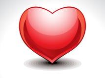 Glossy Heart Icon Stock Image