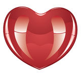 Glossy Heart Royalty Free Stock Photography