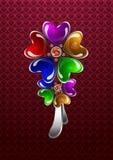 Glossy heart-shaped bijouterie Royalty Free Stock Photos