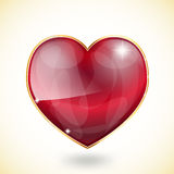 Glossy heart with sparkles Stock Images