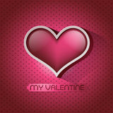 Glossy heart valentin's day card Royalty Free Stock Photography