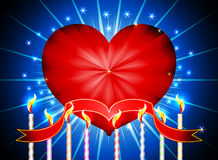 Glossy heart valentines day Stock Photography
