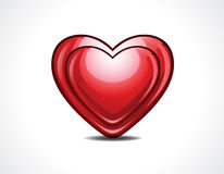 Glossy heart vector illustration Royalty Free Stock Image