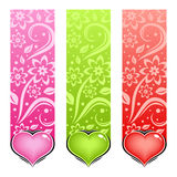 Glossy heart. Vector love card. Royalty Free Stock Images