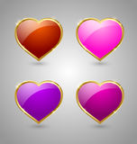 Glossy hearts Royalty Free Stock Photo