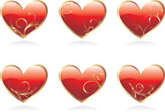 Glossy hearts Royalty Free Stock Photography