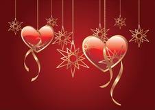 Glossy hearts Royalty Free Stock Image