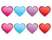 Glossy Hearts Stock Image