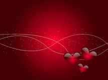 Glossy Hearts Abstract Background Royalty Free Stock Photos