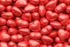 Glossy hearts as background Royalty Free Stock Images