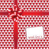 Glossy hearts gift Stock Image