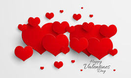 Glossy hearts for Valentines Day. Stock Images