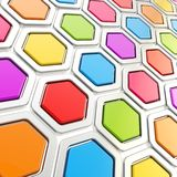 Glossy hexagon segments as abstract background Royalty Free Stock Image