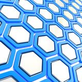 Glossy hexagon segments as abstract background Stock Photos