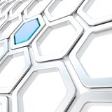 Glossy hexagon segments as abstract background Royalty Free Stock Photo