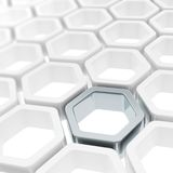 Glossy hexagon segments as abstract background Stock Images