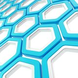Glossy hexagon segments as abstract background Royalty Free Stock Images