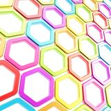 Glossy hexagon segments as abstract background Royalty Free Stock Photos
