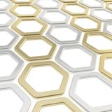 Glossy hexagon segments as abstract background Stock Image